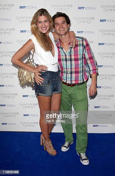 Francesca Hull and Rory Mackay from from the TV show ''Made in Chelsea'' and friend Rory Mackay attends Skyy Vodka Glamour Live at Supperclub on July...