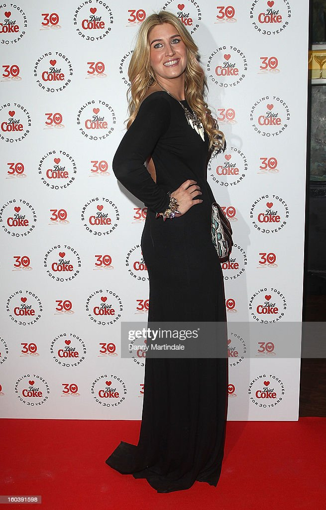 Francesca Hull attends a party hosted by Diet Coke at Sketch on January 30, 2013 in London, England.
