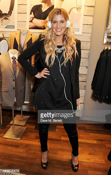 Francesca Hull attends the Panasonic Technics 'Shop To The Beat' Party hosted by George Lamb at French Connection Oxford Circus on March 13 2013 in...