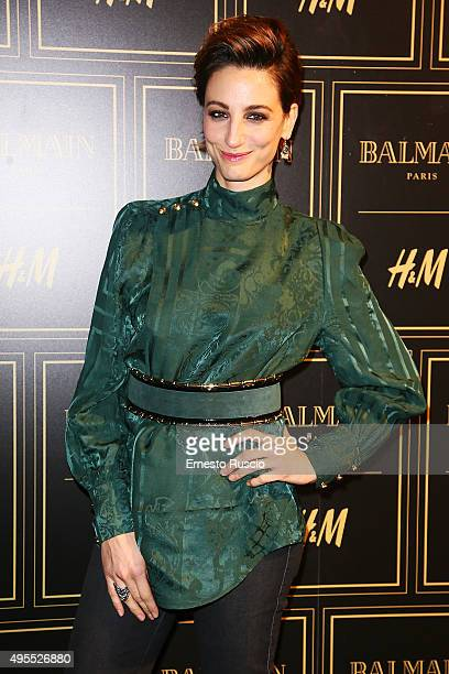 Francesca Inaudi attends Balmain For HM Collection Preview Photocall on November 3 2015 in Rome Italy