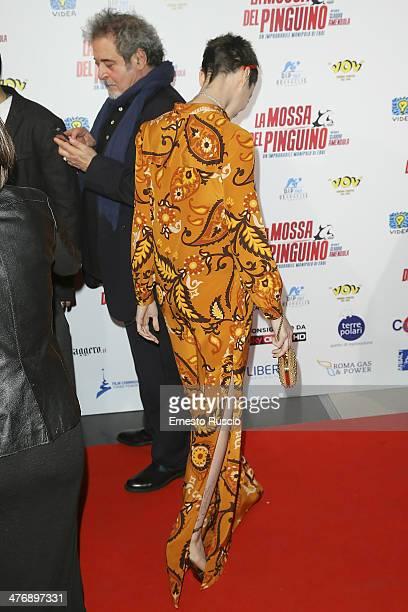Francesca Inaudi attends the 'La Mossa Del Pinguino' premiere at Cinema Adriano on March 5 2014 in Rome Italy