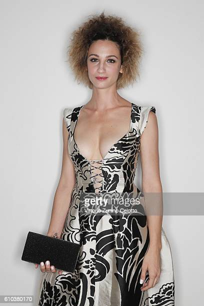 Francesca Inaudi poses for a portrait during amfAR Milano 2016 at La Permanente on September 24 2016 in Milan Italy
