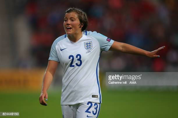 Francesca Kirby of England Women during the UEFA Women's Euro 2017 match between England and France at Stadion De Adelaarshorst on July 30 2017 in...