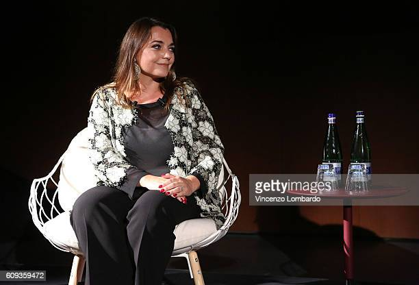 Francesca Lavazza speaks during the 2017 Lavazza Calendar Presentation on September 20 2016 in Milan Italy