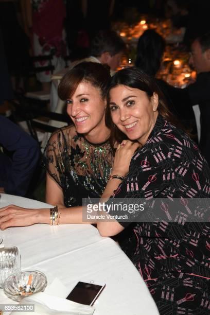 Francesca Leoni and Eleonora Pratelli attend McKim Medal Gala at Villa Aurelia on June 7 2017 in Rome Italy