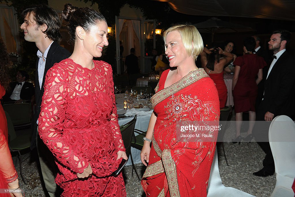 Francesca Leoni and <a gi-track='captionPersonalityLinkClicked' href=/galleries/search?phrase=Patricia+Arquette&family=editorial&specificpeople=206197 ng-click='$event.stopPropagation()'>Patricia Arquette</a> attend Cash & Rocket On Tour Women for Women - Gala Dinner and Auction on June 16, 2013 in Rome, Italy.