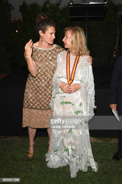Francesca Lo Schiavo and Ginevra Elkann attend McKim Medal Gala at Villa Aurelia on June 7 2017 in Rome Italy
