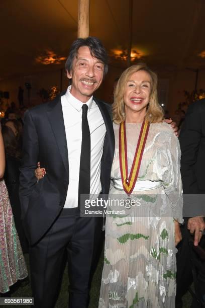 Francesca Lo Schiavo and Pierpaolo Piccioli attend McKim Medal Gala at Villa Aurelia on June 7 2017 in Rome Italy