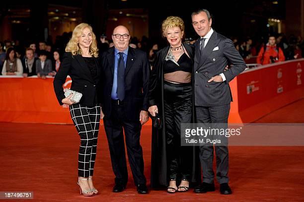 Francesca Lo Schiavo Dante Ferretti actress Sandra Milo and director Antonello Sarno attend 'Federico Degli Spiriti' Premiere during The 8th Rome...