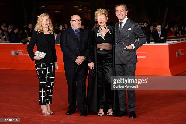 Francesca Lo Schiavo Dante Ferretti Sandra Milo and Antonello Sarno attend 'Dallas Buyers Club' Premiere during The 8th Rome Film Festival on...