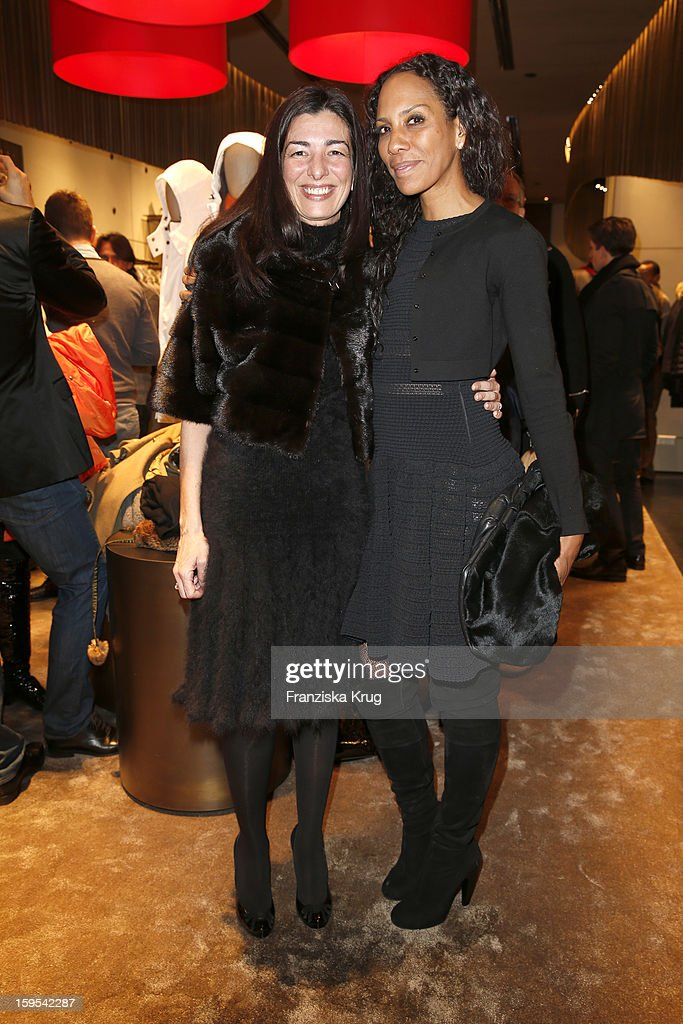 Francesca Lusini and Barbara Becker attend the 'Peuterey Cocktail Party' at Peuterey flagship store Kurfuerstendamm on January 15, 2013 in Berlin, Germany.