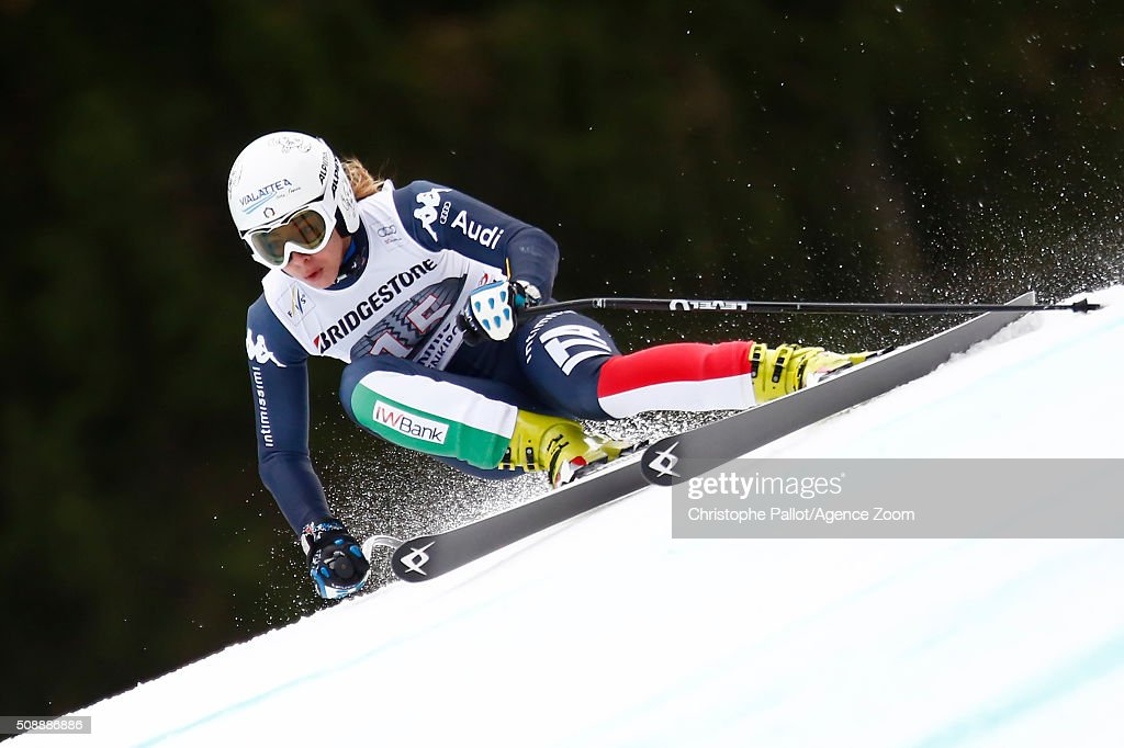 <a gi-track='captionPersonalityLinkClicked' href=/galleries/search?phrase=Francesca+Marsaglia&family=editorial&specificpeople=7489451 ng-click='$event.stopPropagation()'>Francesca Marsaglia</a> of Italy of Germany competes during the Audi FIS Alpine Ski World Cup Women's Super G on January 07, 2016 in Garmisch-Partenkirchen, Germany.