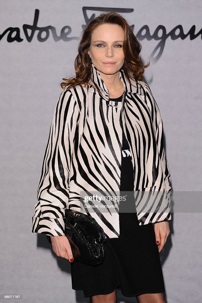 Francesca Neri attends 'Greta Garbo. The Mystery Of Style' opening exhibition during Milan Fashion Week Womenswear A/W 2010 on February 27, 2010 in Milan, Italy.