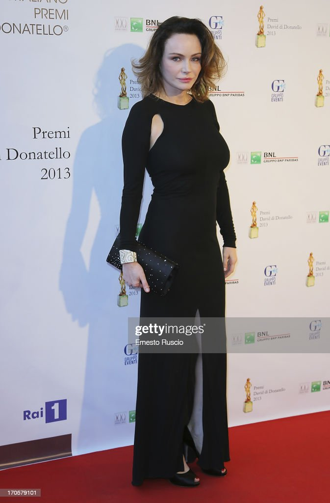 <a gi-track='captionPersonalityLinkClicked' href=/galleries/search?phrase=Francesca+Neri&family=editorial&specificpeople=2154202 ng-click='$event.stopPropagation()'>Francesca Neri</a> attends the David di Donatello Ceremony Awards at Dear on June 14, 2013 in Rome, Italy.