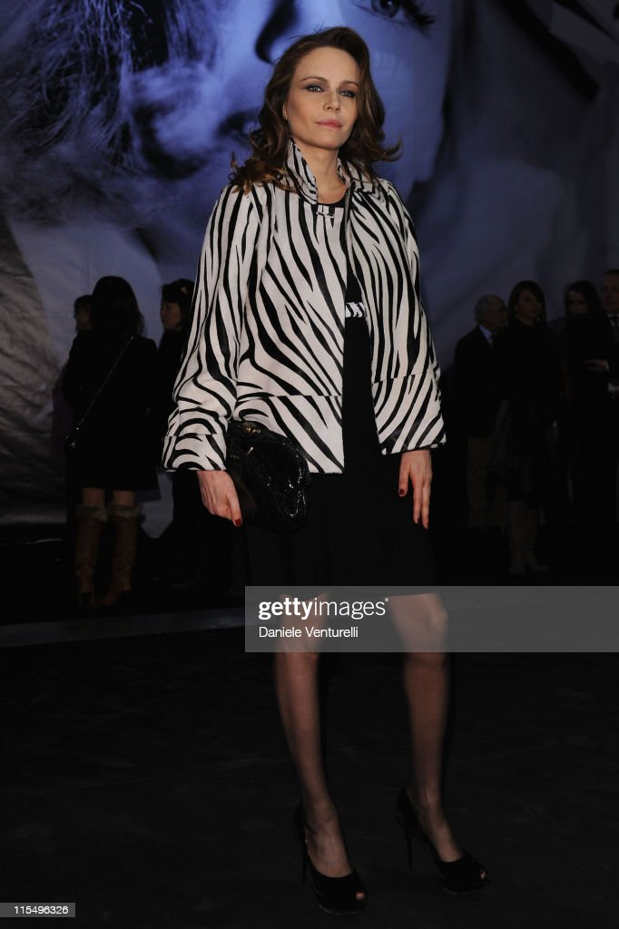 Francesca Neri attends the Salvatore Ferragamo 'Greta Garbo' exhibition at the Triennale Museum during Milan Fashion Week Womenswear A/W 2010 on February 27, 2010 in Milan, Italy.