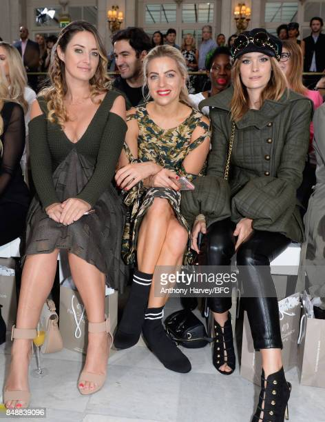 Francesca NewmanYoung Olivia Cox and Charlotte de Carle attend the Paul Costelloe show during London Fashion Week September 2017 on September 18 2017...
