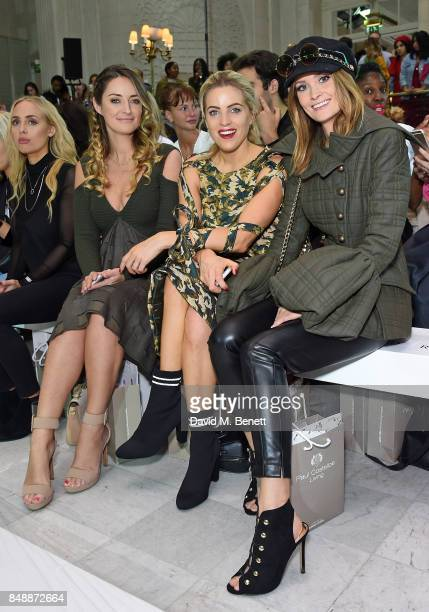 Francesca NewmanYoung Olivia Cox and Charlotte de Carle attend the Paul Costelloe catwalk show during London Fashion Week at The Waldorf London on...