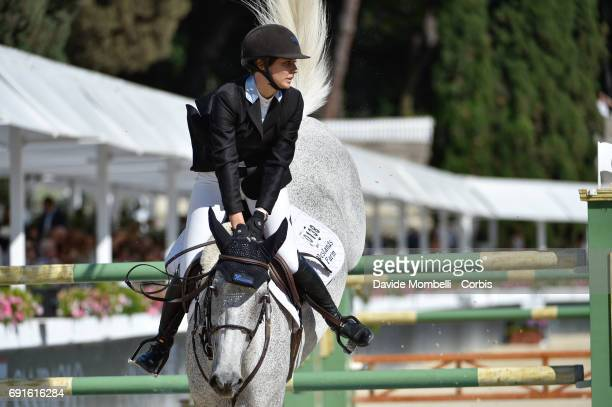 Francesca of Italy riding Call Me Spock during the Piazza di Siena Bank Intesa Sanpaolo in the Villa Borghese on May 27 2017 in Rome Italy
