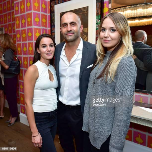 Francesca Pagani Artist Bill Claps and Victoria Zamuzo attend the launch of The Collector Geneva's Sophie Bonvin Code Collection in Collaboration...