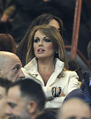 Francesca Pascale attends the Serie A match between AC Milan and Juventus FC at San Siro Stadium on November 25 2012 in Milan Italy