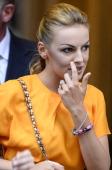Francesca Pascale the girlfriend of former Italian prime minister Silvio Berlusconi leaves Palazzo Grazioli on June 25 2013 in Rome Silvio...
