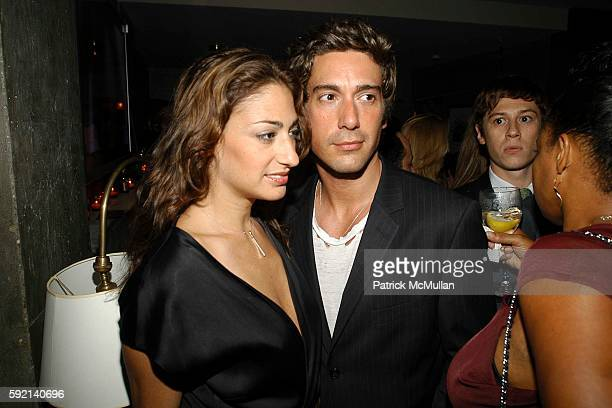 Francesca Picasso and David Muir attend Zac Posen Spring/Summer 2006 After Party Hosted by Jaguar at The Penthouse Lofts at The Soho Grand on...