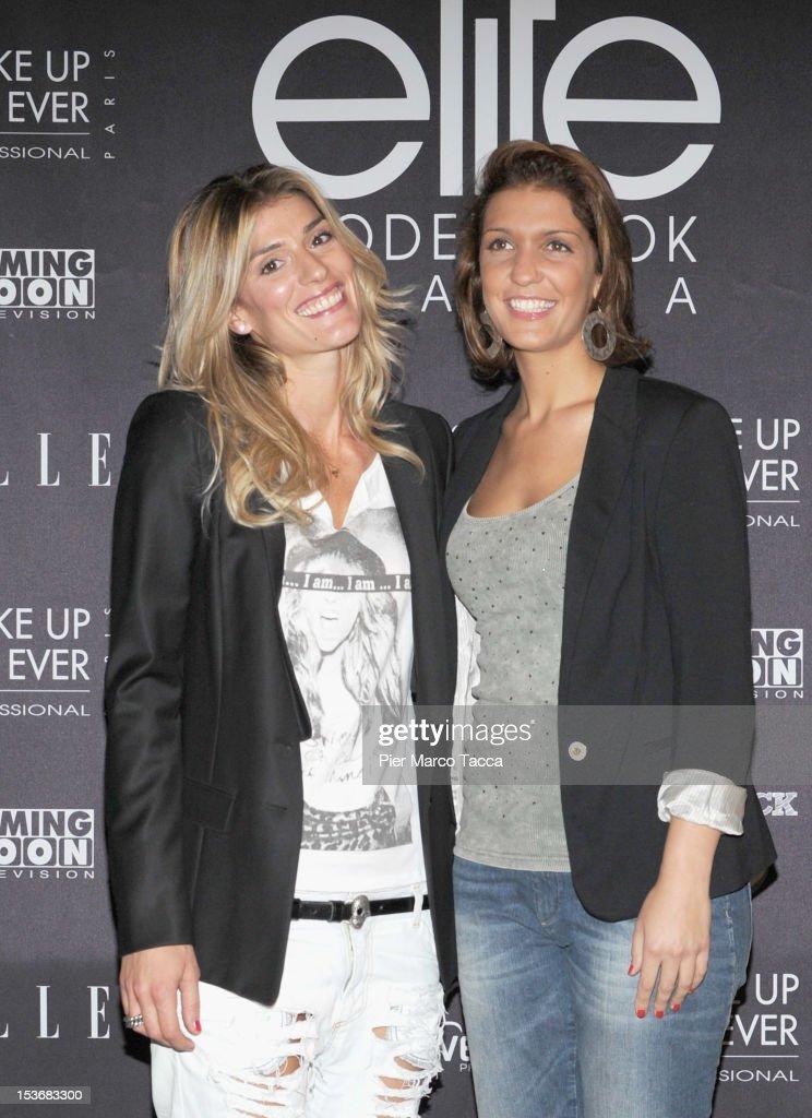 Francesca Piccinini and Arianna Errigo attend 2012 Elite model look Italia photocall on October 8 2012 in Milan Italy