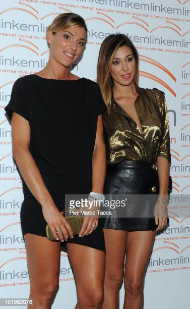 Francesca Piccinini and Belen Rodriguez attend Linkem photocall on September 13 2012 in Milan Italy