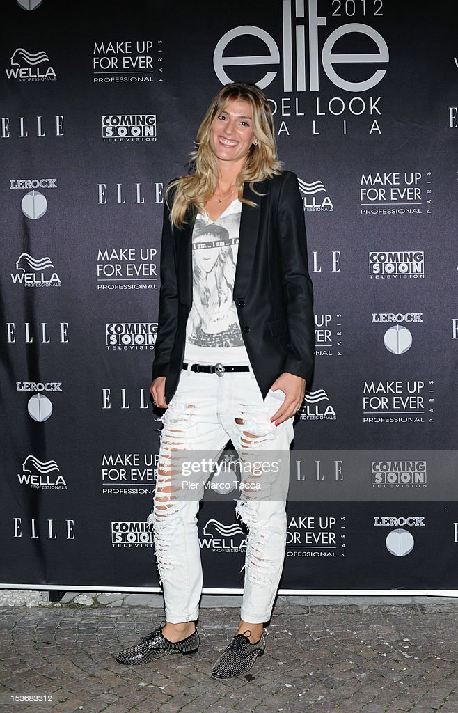 Francesca Piccinini attends 2012 Elite model look Italia photocall on October 8, 2012 in Milan, Italy.