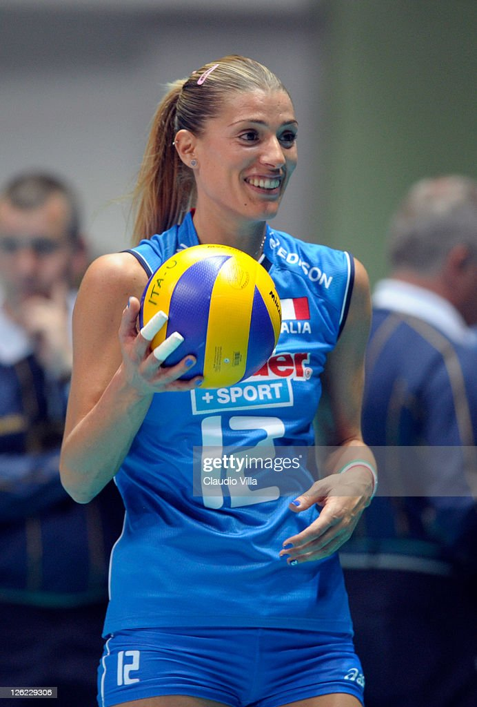 Francesca Piccinini of Italy during the women Volleyball European Championship match between Italy and Croatia on September 23 2011 in Monza Italy