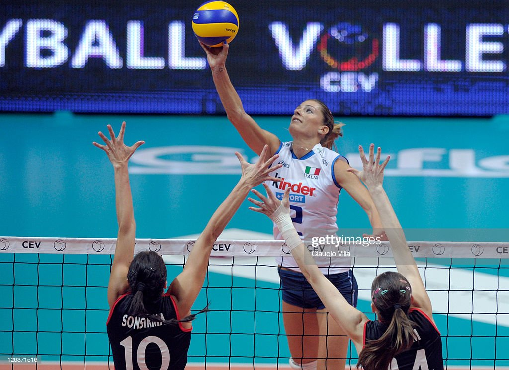 Francesca Piccinini of Italy during the women Volleyball European Championship match between Italy and Turkey on September 25 2011 in Monza Italy