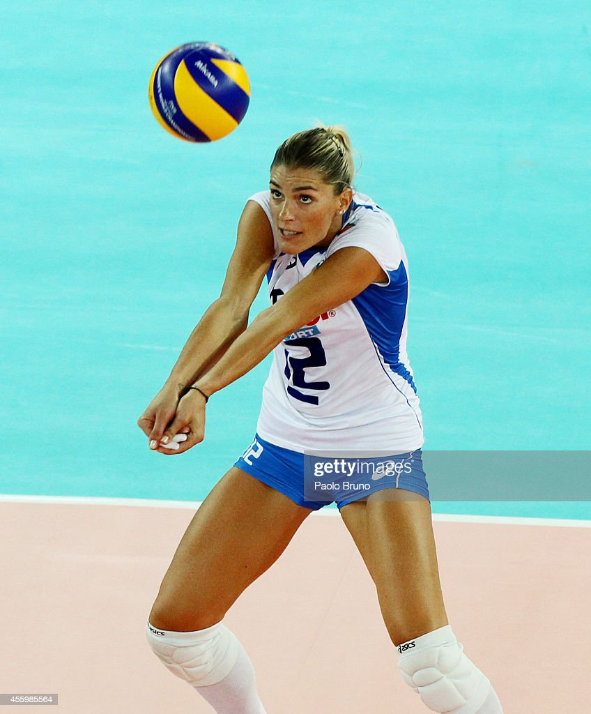 Francesca Piccinini of Italy in action during the FIVB Women's World Championship pool A match between Italy and Tunisia at Palalottomatica on...