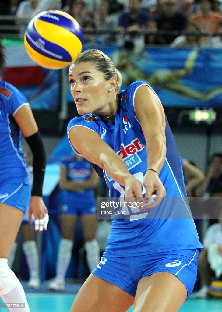 Francesca Piccinini of Italy in action during the FIVB Women's World Championship pool A match between Italy and Dominican Republic at...