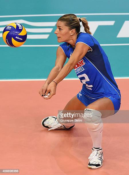 Francesca Piccinini of Italy in action during the FIVB Women's World Championship pool E match between Italy and China on October 5 2014 in Bari Italy