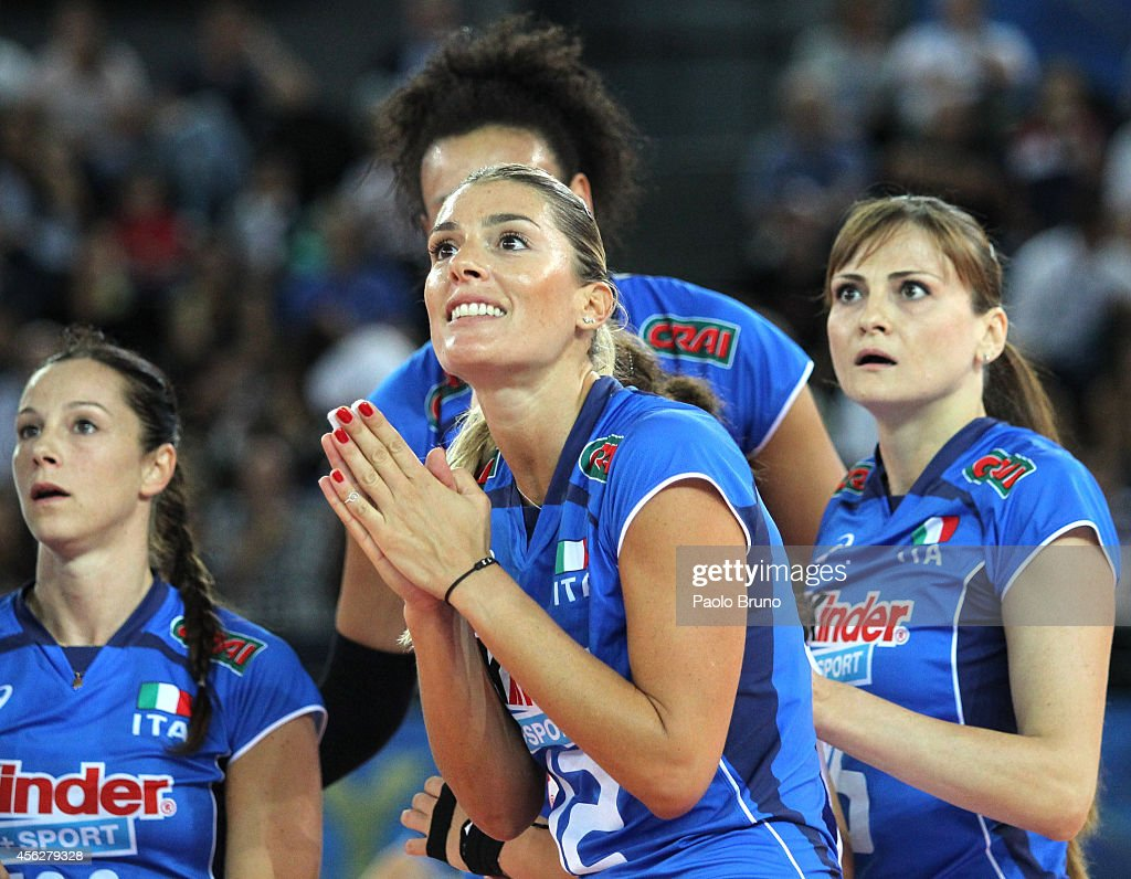 Francesca Piccinini of Italy reacts during the FIVB Women's World Championship pool A match between Italy and Dominican Republic at Palalottomatica...