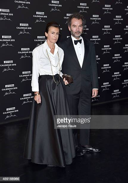 Francesca Ruffini and Remo Ruffini attend the 2015 Pirelli Calendar Red Carpet on November 18 2014 in Milan Italy