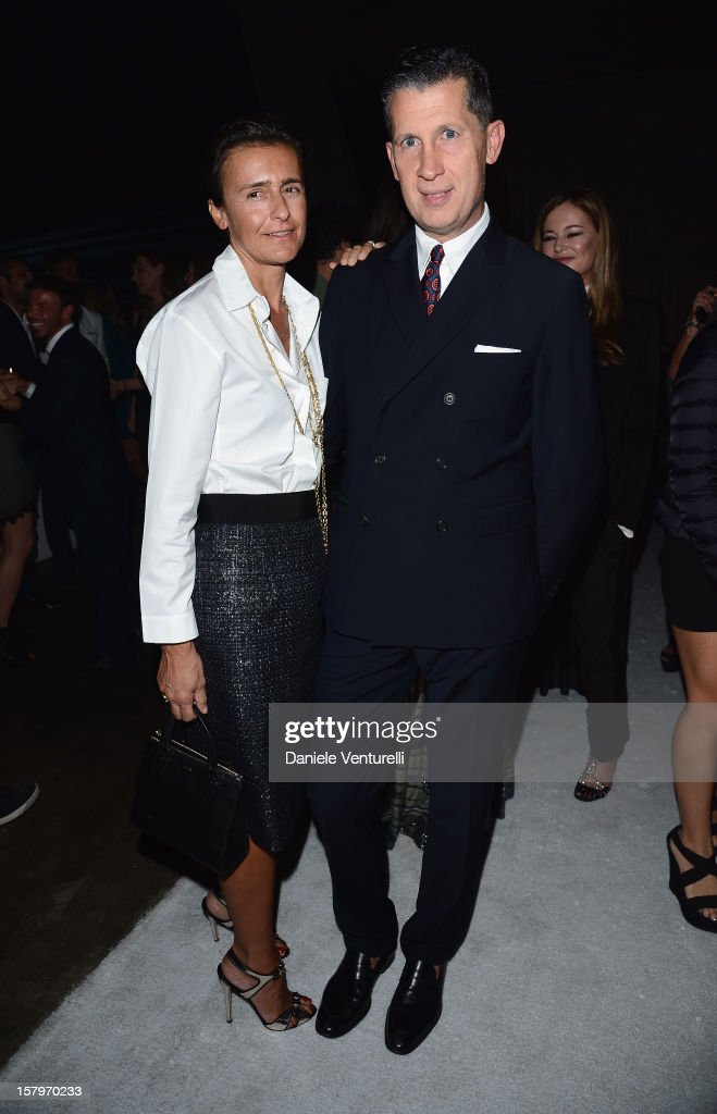 Francesca Ruffini and Stefano Tonchi attend a private dinner celebrating Remo Ruffini and Moncler's 60th Anniversary during Art Basel Miami Beach on December 7, 2012 in Miami Beach, Florida.