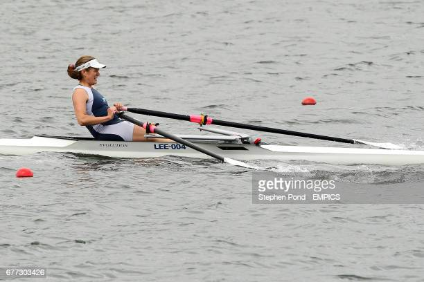 Francesca Sanjana of Mortlake Anglian and Alpha Boat Club wins the Womens Single Sculls event during day three of the British Rowing Championships...