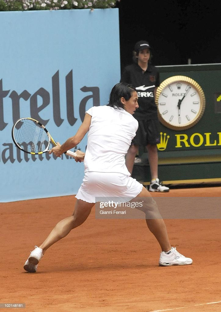 Francesca Schiavone, ITA, in 'Mutua Madrilena Madrid Open' of tennis, 8th May 2010, in 'La Caja Magica'. Madrid, Spain.