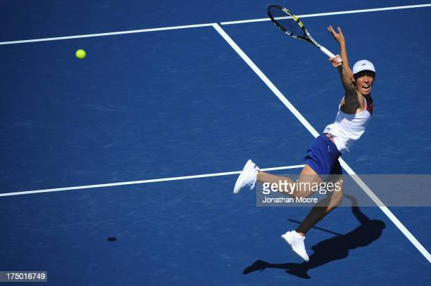 Francesca Schiavone of of Italy reaches for the ball in the third set of a match against Francesca Schiavone of Italy during day one of the Southern...