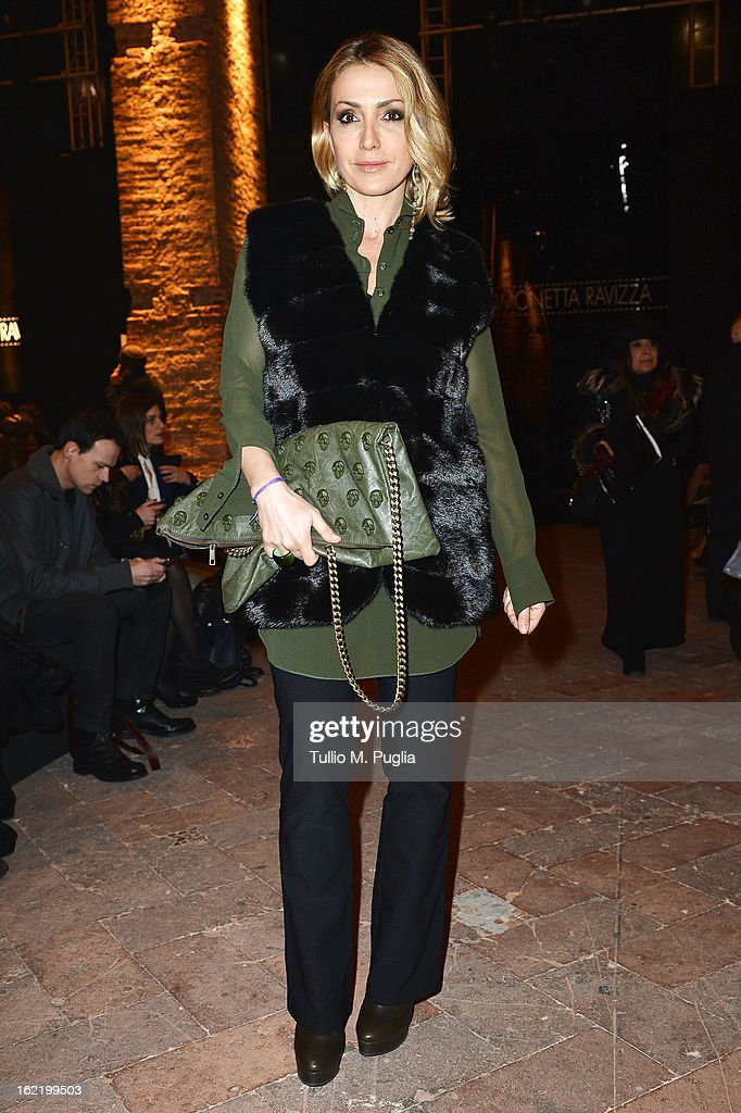 Francesca Senette attends the Simonetta Ravizza fashion show as part of Milan Fashion Week Womenswear Fall/Winter 2013/14 on February 20, 2013 in Milan, Italy.