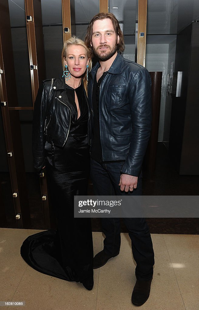Francesca Standen and Clive Standen attend the Bank Of America And Food & Wine With The Cinema Society Screening Of 'A Place At The Table' After Party at Riverpark on February 27, 2013 in New York City.