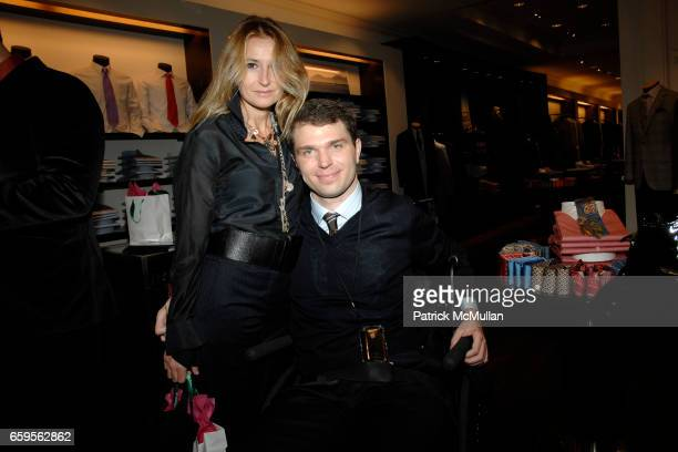 Francesca Traldi and Francesco Clark attend FACONNABLE VANITY FAIR Shopping Night for the Christopher Reeve Dana Reeve Foundation at Faconnable Store...
