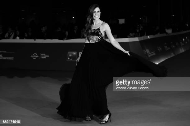 Francesca Valtorta walks a red carpet for 'Trouble No More' during the 12th Rome Film Fest at Auditorium Parco Della Musica on November 2 2017 in...