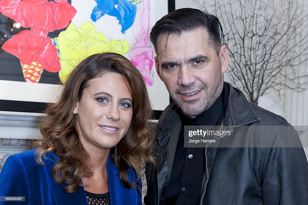 Francesca Versace and Roland Mouret attend the Roland Mouret & East of Mayfair Celebration of 70 Years of Antonio Lopez at the Roland Mouret Flagship Store on Carlos Place on September 13, 2013 in London, England.