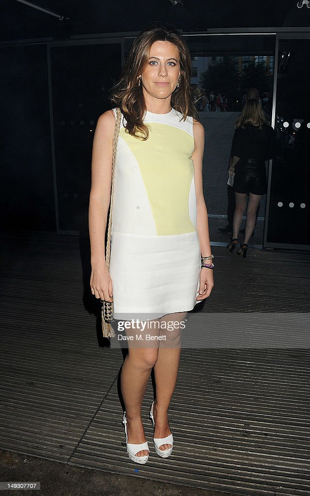 Francesca Versace arrives at the Warner Music Group Pre-Olympics Party in the Southern Tanks Gallery at the Tate Modern on July 26, 2012 in London, England.