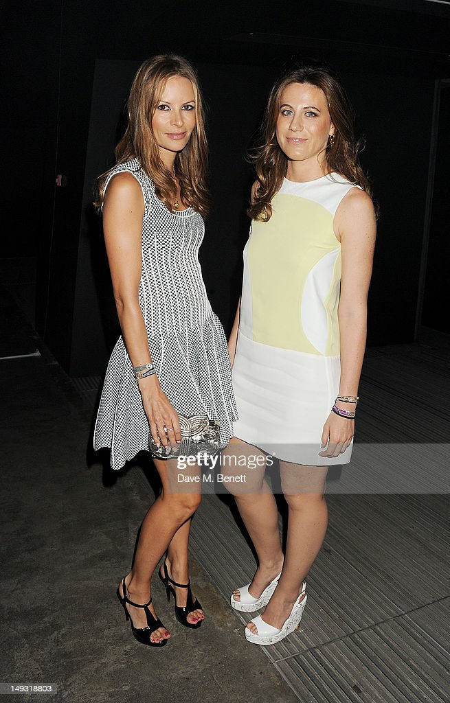Francesca Versace (R) arrives at the Warner Music Group Pre-Olympics Party in the Southern Tanks Gallery at the Tate Modern on July 26, 2012 in London, England.