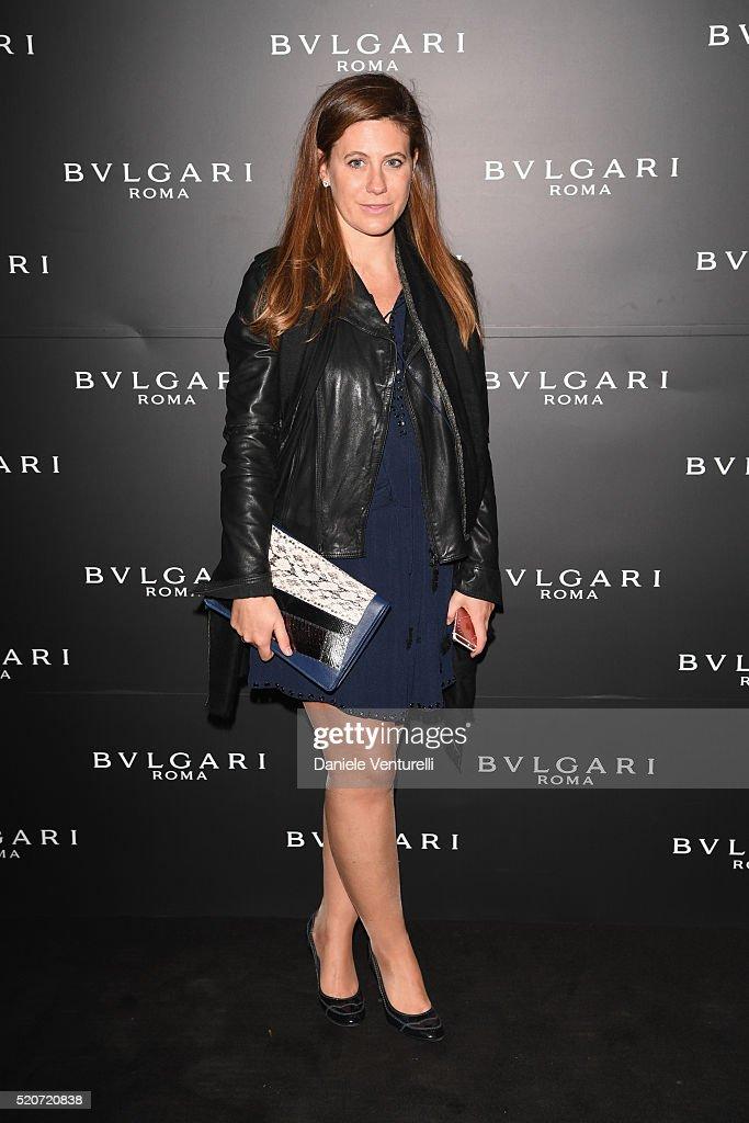 Francesca Versace attends BVLGARI Celebration of B.Zero1 At Milan Design Week at Hotel Bulgari on April 12, 2016 in Milan, Italy.