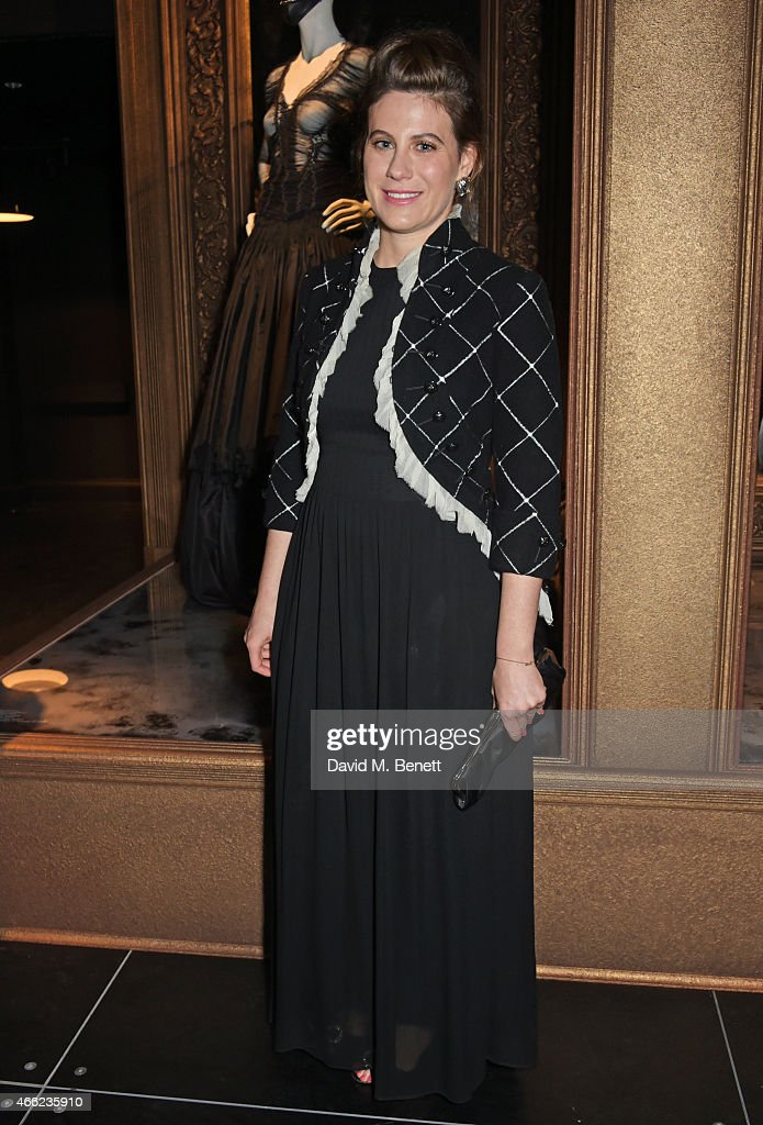 Francesca Versace attends the Alexander McQueen: Savage Beauty VIP private view at the Victoria and Albert Museum on March 14, 2015 in London, England.