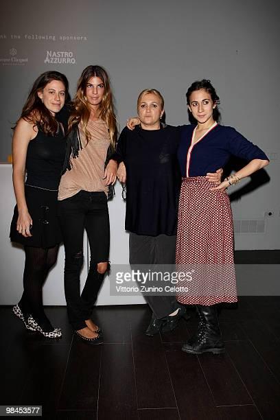 Francesca Versace Bianca Brandolini D'Adda Silvia Venturini Fendi and Delfina Delettrez Fendi attend Fendi And Design Miami Present Design Vertigo...